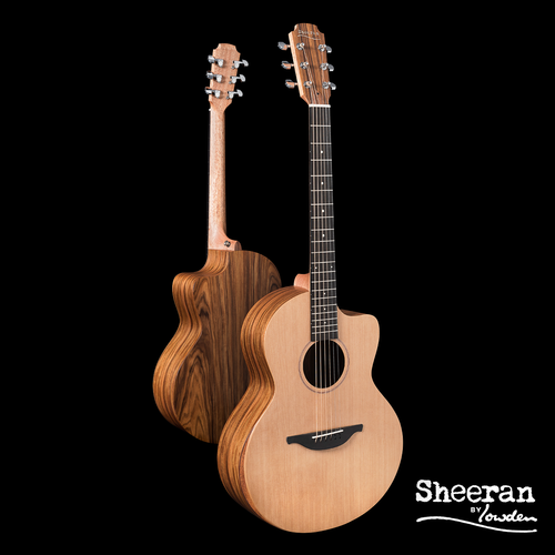 Sheeran by Lowden S03 Solid Cedar Top, Santos Rosewood back and sides, Body Bevel, LR Bags Element pickup