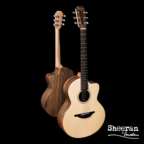 Sheeran by Lowden S04 Solid Sitka Spruce Top, Figured Walnut back and sides, Body Bevel, LR Bags Element pickup