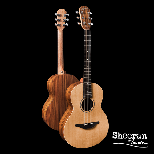 Sheeran by Lowden W03 Solid Cedar Top, Santos Rosewood back and sides, Body Bevel, LR Bags Element pickup