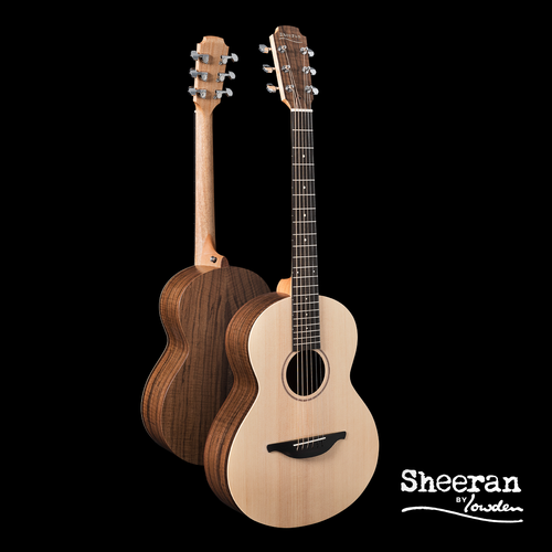 Sheeran by Lowden W04 Solid Sitka Spruce Top, Figured Walnut back and sides, Body Bevel, LR Bags Element pickup