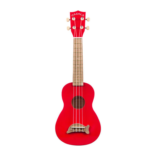 Makala Dolphin Soprano Ukulele Cand Apple Red
