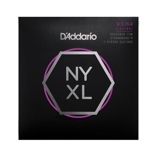 D'Addario NYXL09564SB, Nickel Wound, Strandberg 7-String, Super Light Plus, 095-64