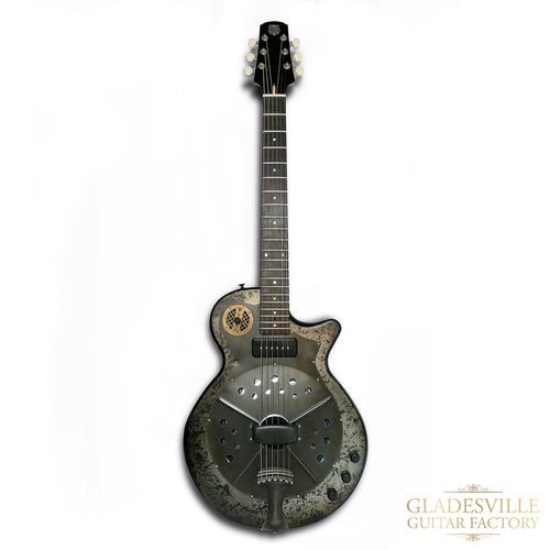 National Pioneer RP1 Black Rust Resonator Electric Guitar