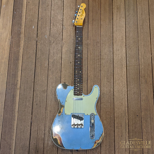 Fender Custom Shop 1960 Telecaster® Custom Relic®, Rosewood Fingerboard, Aged Lake Placid Blue over Chocolate 3-Color Sunburst