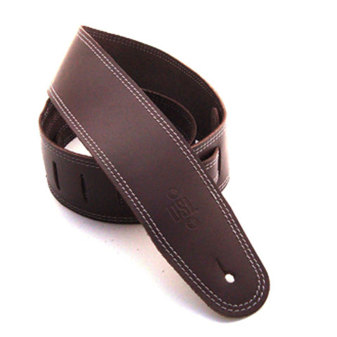 DSL 2.5'' Single Ply Saddle Brown/Grey Stitch Strap 17-4