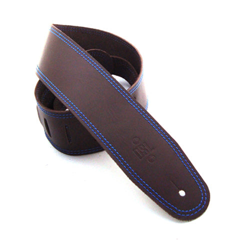 DSL 2.5'' Single Ply Saddle Brown/Blue Stitch Strap 17-8