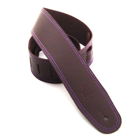 DSL 2.5'' Single Ply Saddle Brown/Purple Stitch Strap 17-9