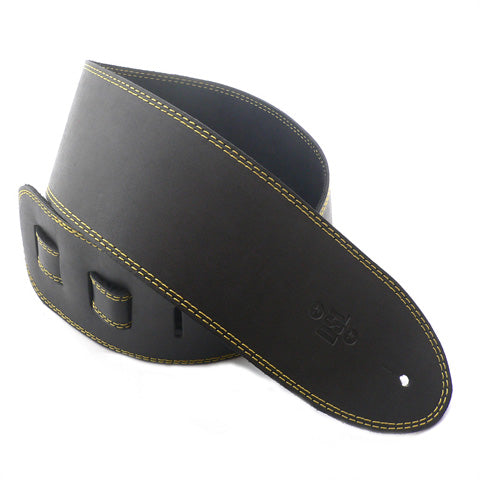 DSL 3.5'' Single Ply Black/Yellow Stitch Strap