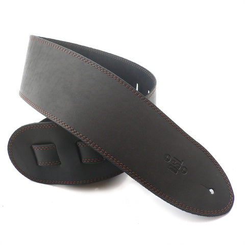 DSL 3.5'' Single Ply Black/Brown Stitch Strap