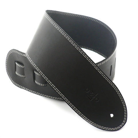 DSL 3.5'' Single Ply Black/Beige Stitch Strap