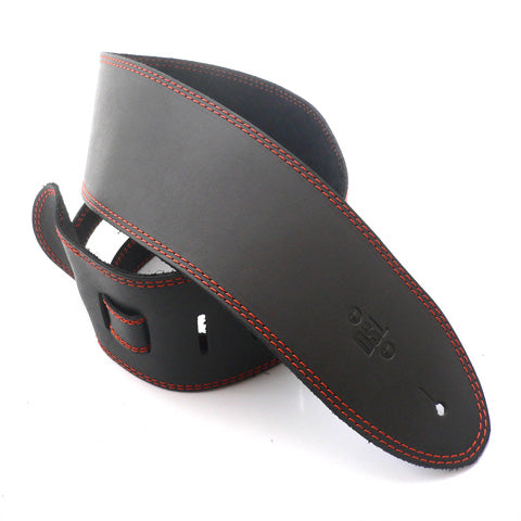 DSL 3.5'' Single Ply Black/Orange Stitch Strap