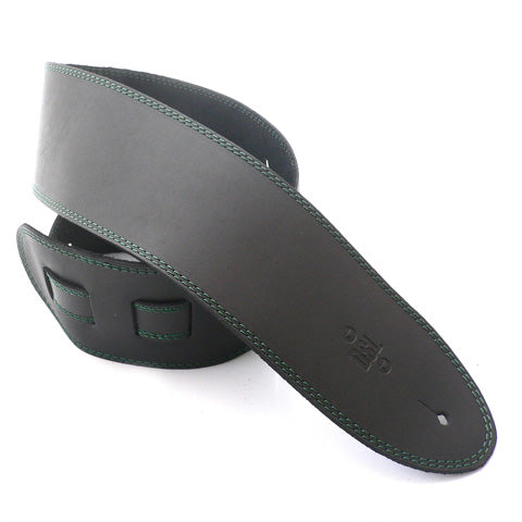 DSL 3.5'' Single Ply Black/Green Stitch Strap