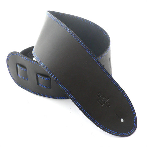 DSL 3.5'' Single Ply Black/Blue Stitch Strap