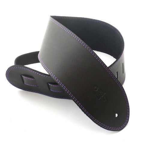 DSL 3.5'' Single Ply Black/Purple Stitch Strap