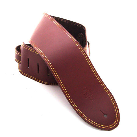 DSL 3.5'' Single Ply Maroon/Yellow Stitch Strap