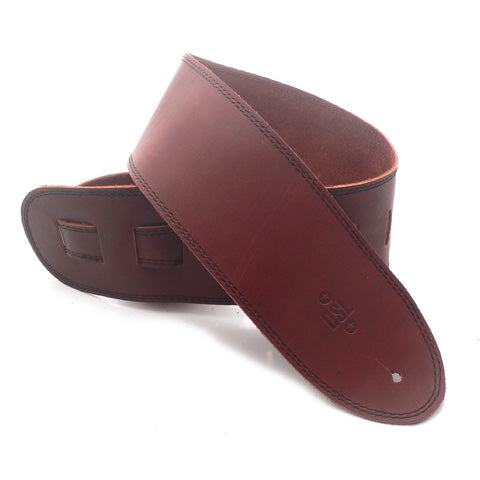 DSL 3.5'' Single Ply Maroon/Black Stitch Strap