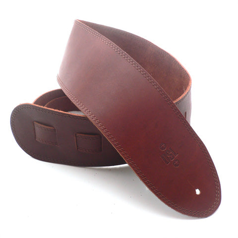DSL 3.5'' Single Ply Maroon/Brown Stitch Strap