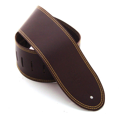 DSL 3.5'' Single Ply Saddle Brown/Yellow Stitch Strap