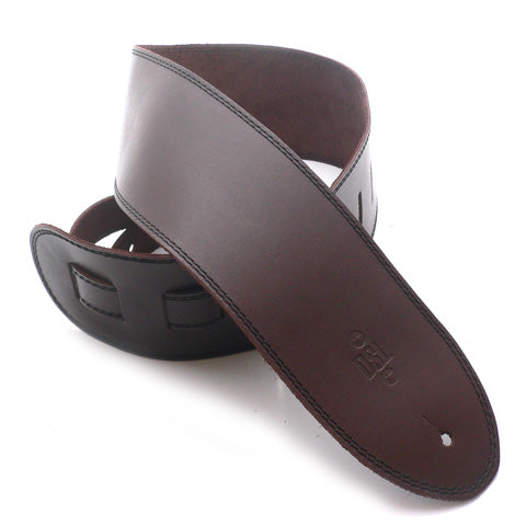 DSL 3.5'' Single Ply Saddle Brown/Black Stitch Strap