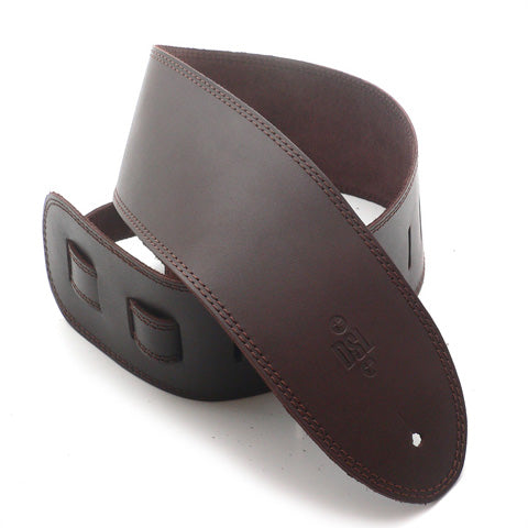 DSL 3.5'' Single Ply Saddle Brown/Brown Stitch Strap