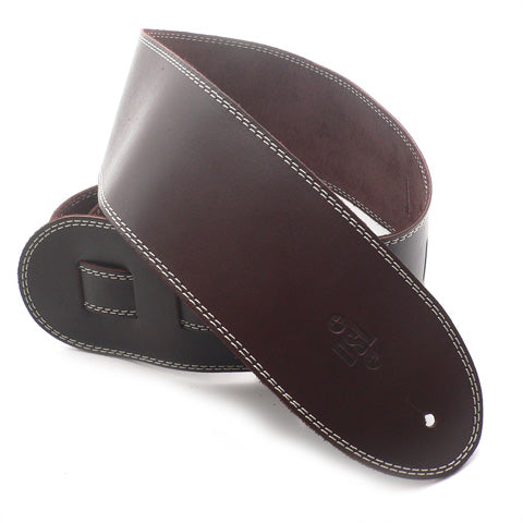 DSL 3.5'' Single Ply Saddle Brown/Beige Stitch Strap