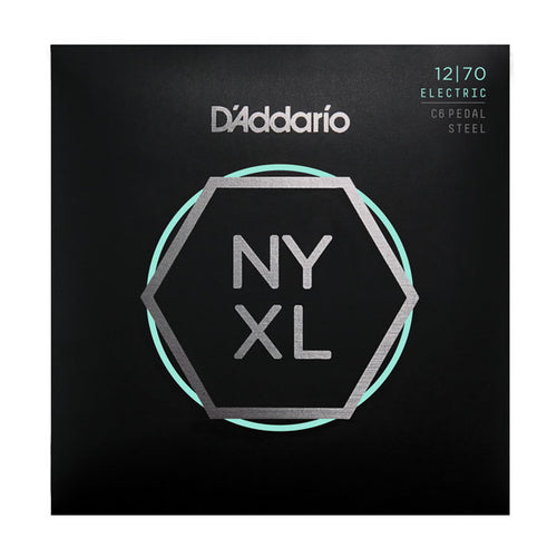 D'Addario NYXL1270PS Nickel Wound C6 Pedal Steel Guitar Strings, Regular, 12-70