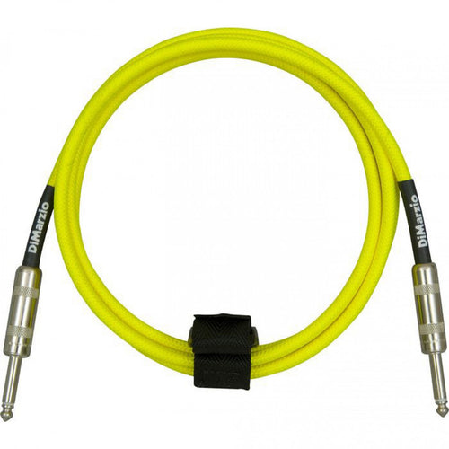 DiMarzio EP1718NY 18ft American Cable Overbraid Neon Yellow