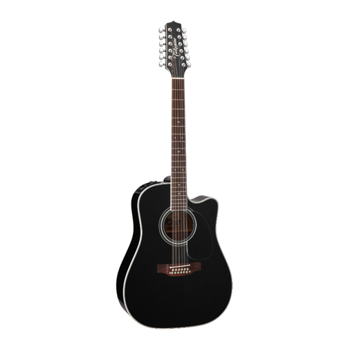 Takamine EF381SC Dreadnought Black 12 string
