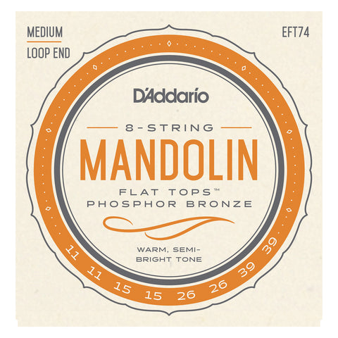 D'Addario EJM74 Monel Mandolin Strings, Medium, 11-40