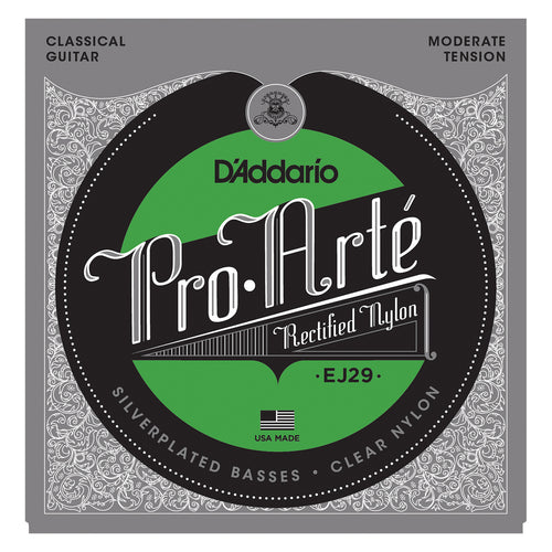 D'Addario EJ29 Classics Rectified Classical Guitar Strings, Moderate Tension