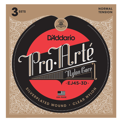 D'Addario EJ45-3D Pro-Arte Nylon, Normal Tension 3 Pack