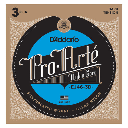 D'Addario EJ46-3D Pro Arte Hard Tension 3 sets