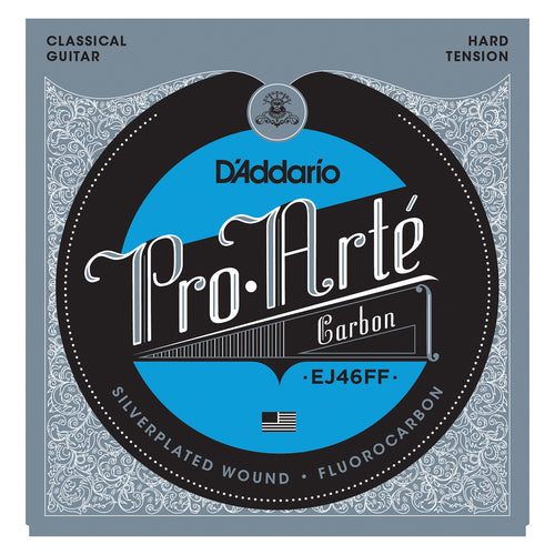 D'Addario EJ46FF ProArte Carbon Classical Guitar Strings, Dynacore Basses, Hard Tension