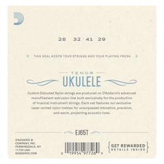 D'Addario EJ65T Pro-Arté Custom Extruded Nylon Ukulele Strings, Tenor