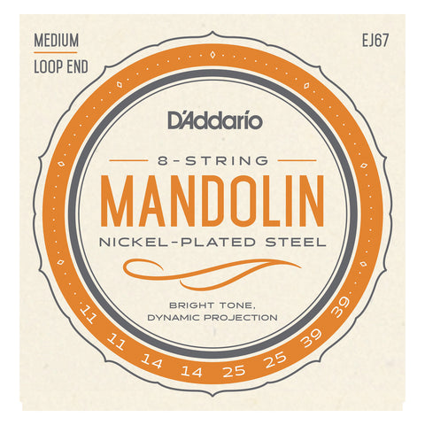 D'Addario EFT76 Flat Tops Mandola Strings, Medium, 16-53