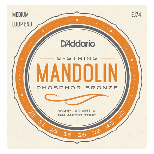 D'Addario EJ74 Mandolin Strings 11-40