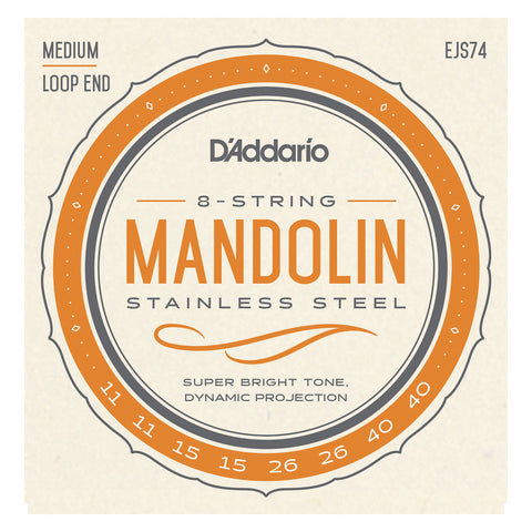 D'Addario EJ62 80/20 Bronze Mandolin Strings, Light, 10-34