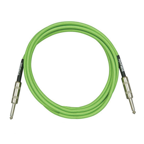 Dimarzio EP1710NG Over Braided Cable 10' Neon Green