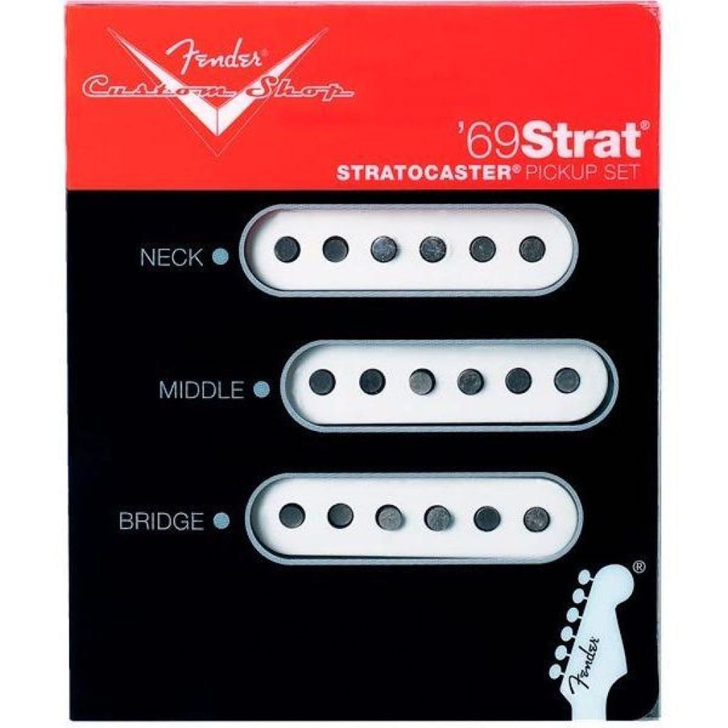 Fender Custom Shop '69 Strat Pickup Set of 3 White