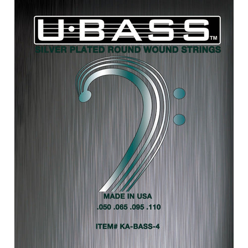 Kala U Bass Silver Plated Round Wound 4 String Set