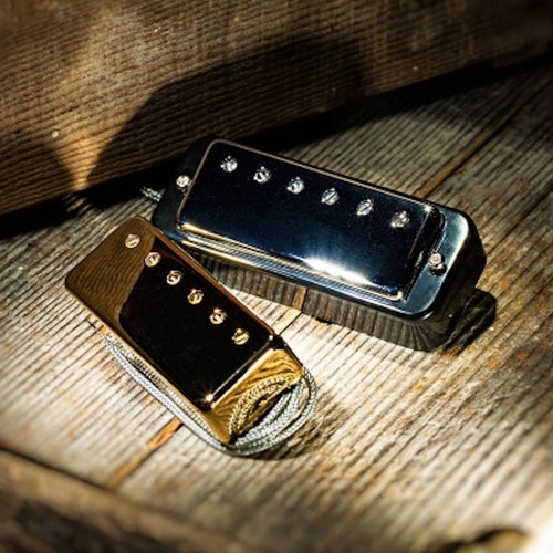 Lollar Mini Humbucker Nickel 2-Pickup Set Blk ring