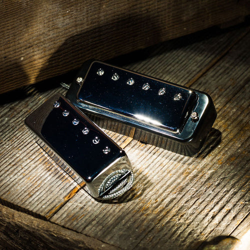 Lollar Mini Humbucker Nickel 2-Pickup Set 4 conductor Cream Ring