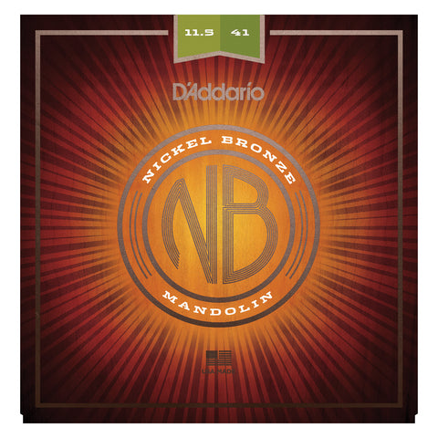 D'Addario NBM1038 Nickel Bronze Mandolin Strings, Light, 10-38