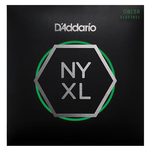 D'Addario NYXL0838 Nickel Wound Electric Guitar Strings, Extra Super Light, 8-38