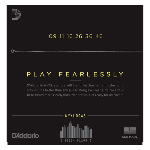 D'Addario NYXL0946 Nickel Wound Electric Guitar Strings, Super Light Top / Regular Bottom, 9-46