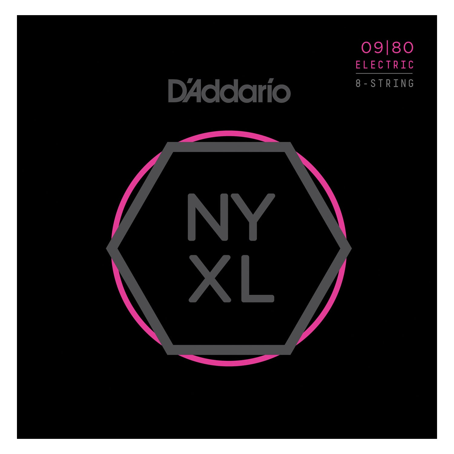 D'Addario NYXL0980 Nickel Wound 8-String Electric Guitar Strings, Super Light, 09-80