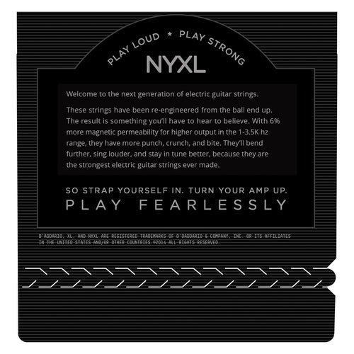 D'Addario NYXL1046-3P Nickel Wound Electric Guitar Strings, Regular Light, 10-46, 3 Sets