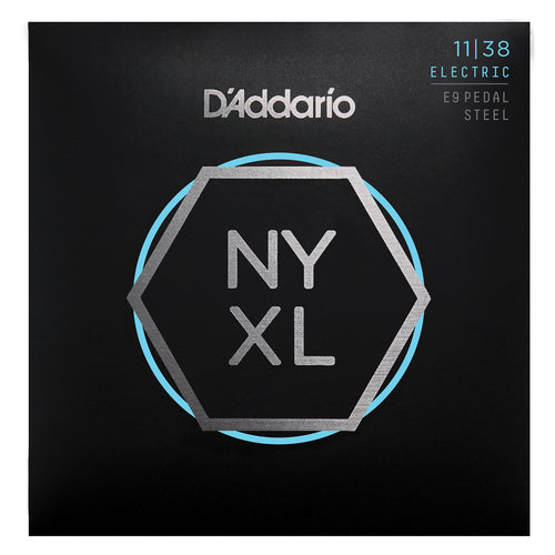 D'Addario NYXL1138PS Nickel Wound Pedal Steel Guitar Strings, Regular Light, 11-38