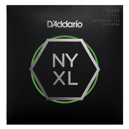 D'Addario NYXL1156 Nickel Wound Electric Guitar Strings, Medium Top / Extra-Heavy Bottom, 11-56
