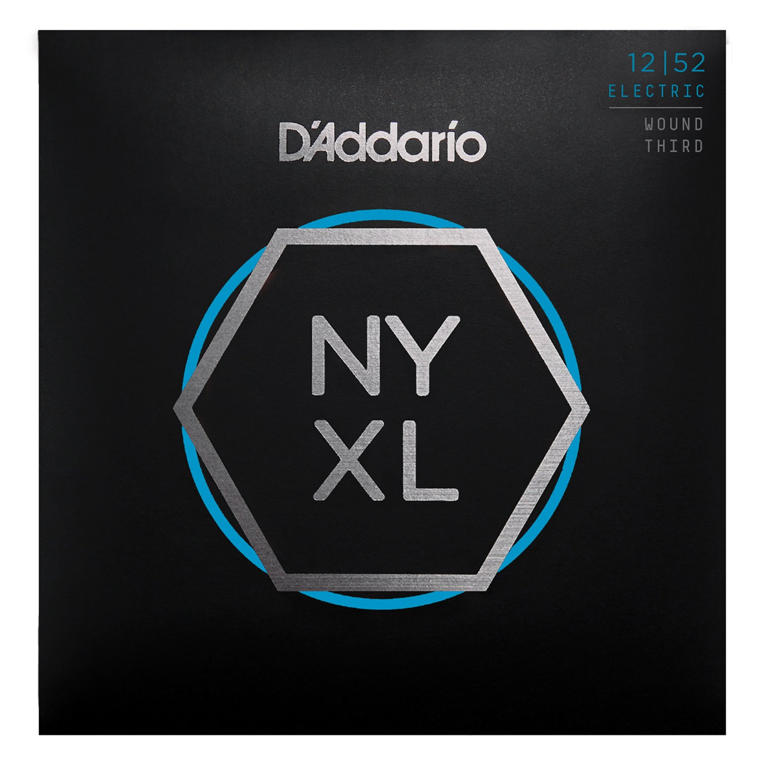 D'Addario NYXL1252W Nickel Wound Electric Guitar Strings, Light Wound 3rd, 12-52